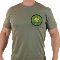 Вышитая милитари футболка для пограничников из Ханкайского погранотряда.