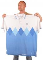 Бело-голубая футболка BARE FOX.