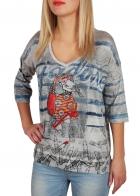Такого ты ещё не видела! Гламурно-спортивная футболка реглан в модном стиле oversize. Горячая новинка от ТМ LEO&UGO. Женственно, прикольно и недорого!