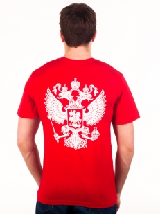 Футболка «RUSSIA» красная