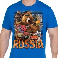 """Футболка с медведем """"Russia"""""""