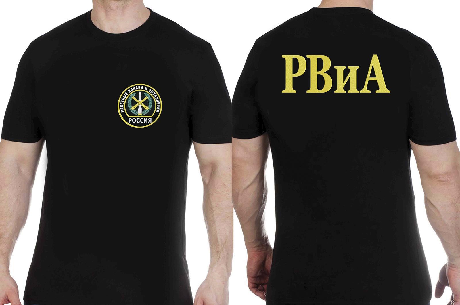 Заказать футболку с вышитой эмблемой РВиА