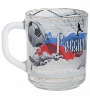 """Футбольная кружка """"Россия"""" (стеклянная)"""