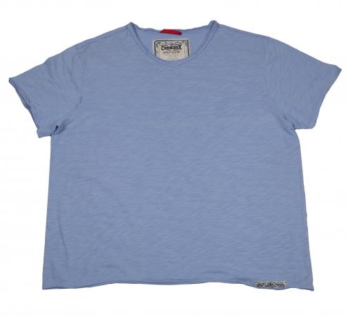 Голубая футболка Gremieux. 100% хлопок
