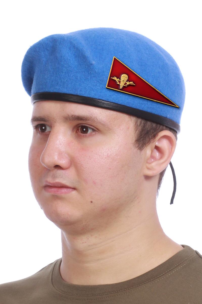 Голубой берет десантника с уголком - купить в интернет-магазине