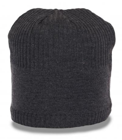 Городская зимняя шапка утепленная флисом комфортная актуальная современная модель
