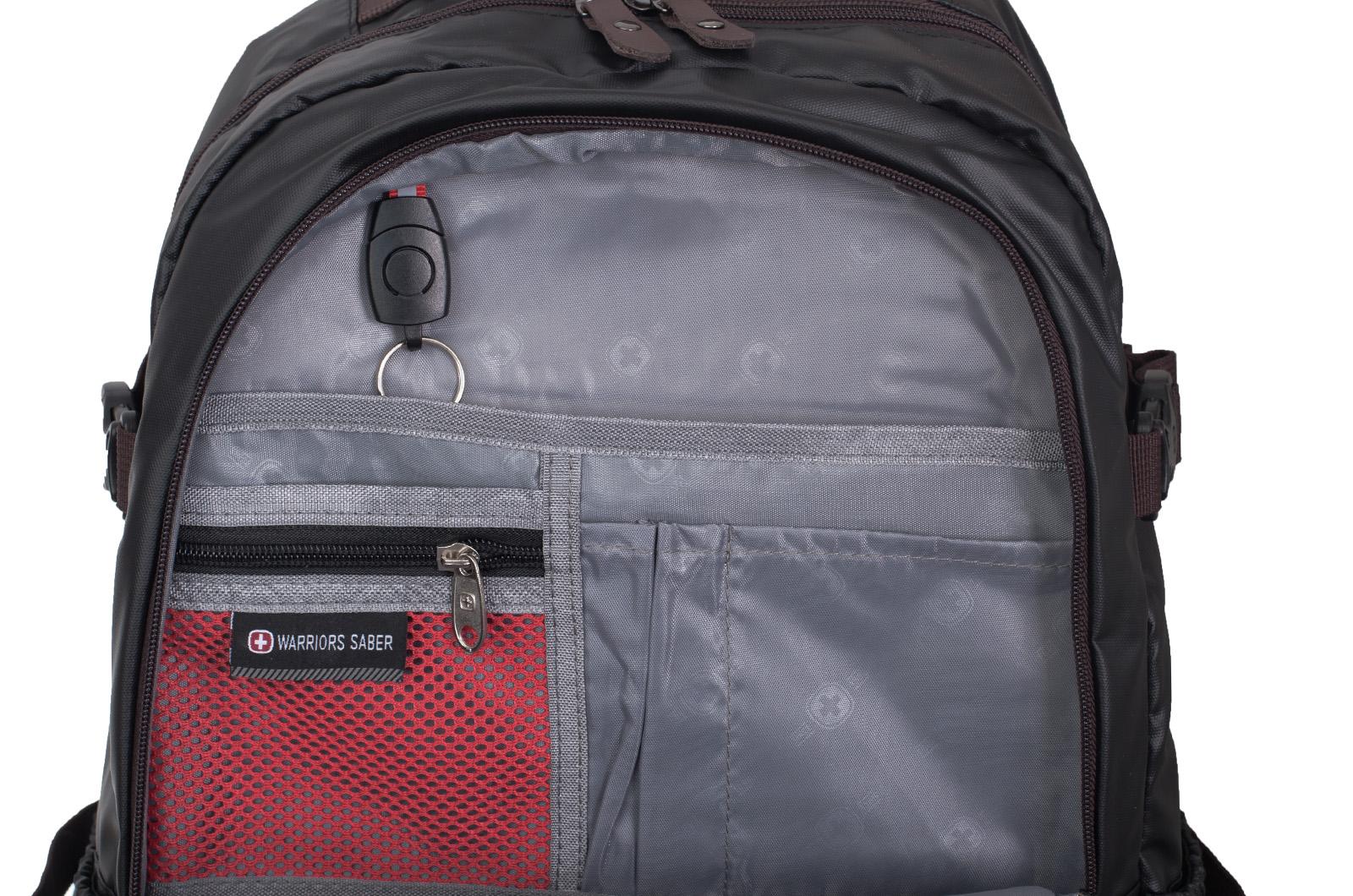 Городской черный рюкзак с нашивкой РВСН - купить с доставкой