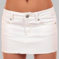 Хайповая юбка American Eagle из джинсовой ткани белого цвета. Категория 18+! БОЛЬШИЕ размеры тоже есть!