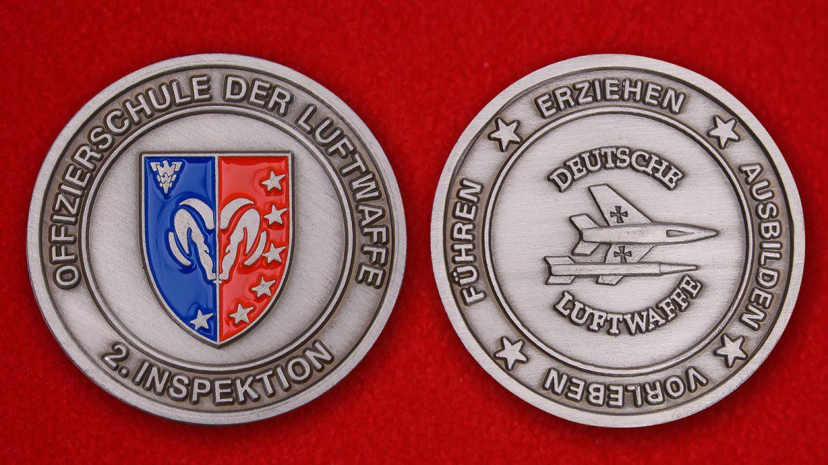"""Herausforderungs-Münze """"Offizierschule der Luftwaff"""" - Vorderseite und umgekehrt"""