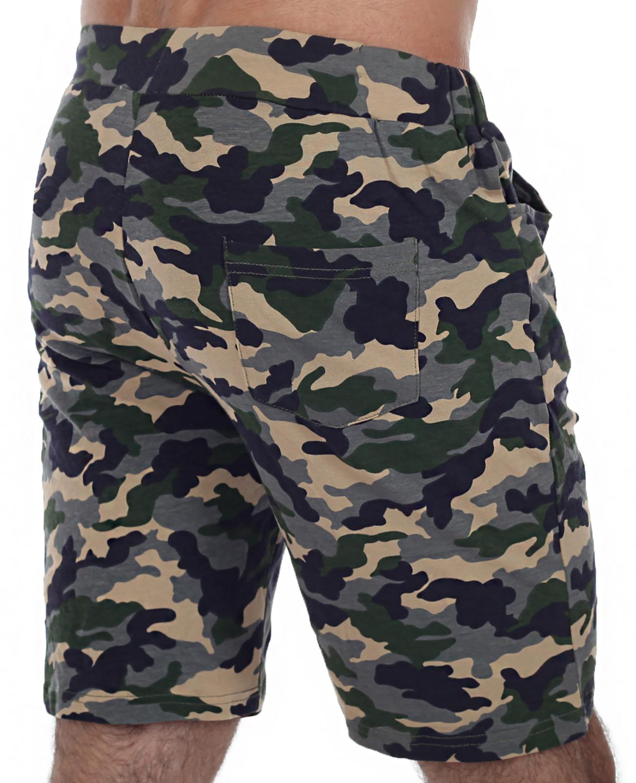 Купить хлопковые шорты с вышивкой Спецназ