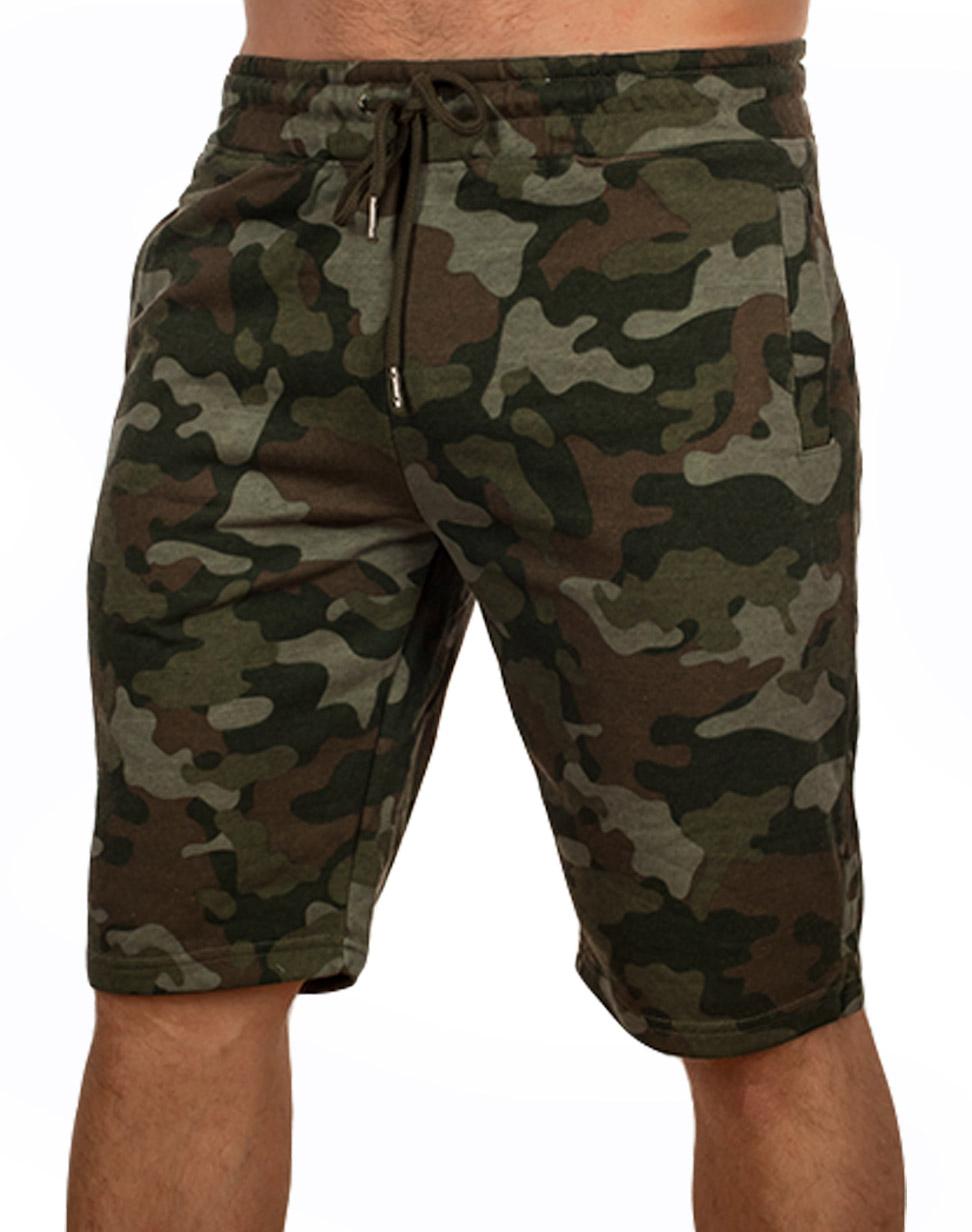 Купить мужские камуфляжные шорты IZZUE на поясе-резинке