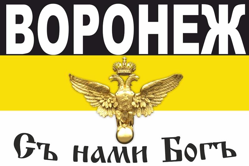 Имперский флаг Воронежа на Русский марш