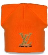 Изысканная яркая женская шапка Louis Vuitton