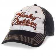 Бейсболка Харлей Дэвидсон – стильные грубые строчки, яркий логотип, легкий летний материал. Тот случай, когда аксессуар РЕШАЕТ