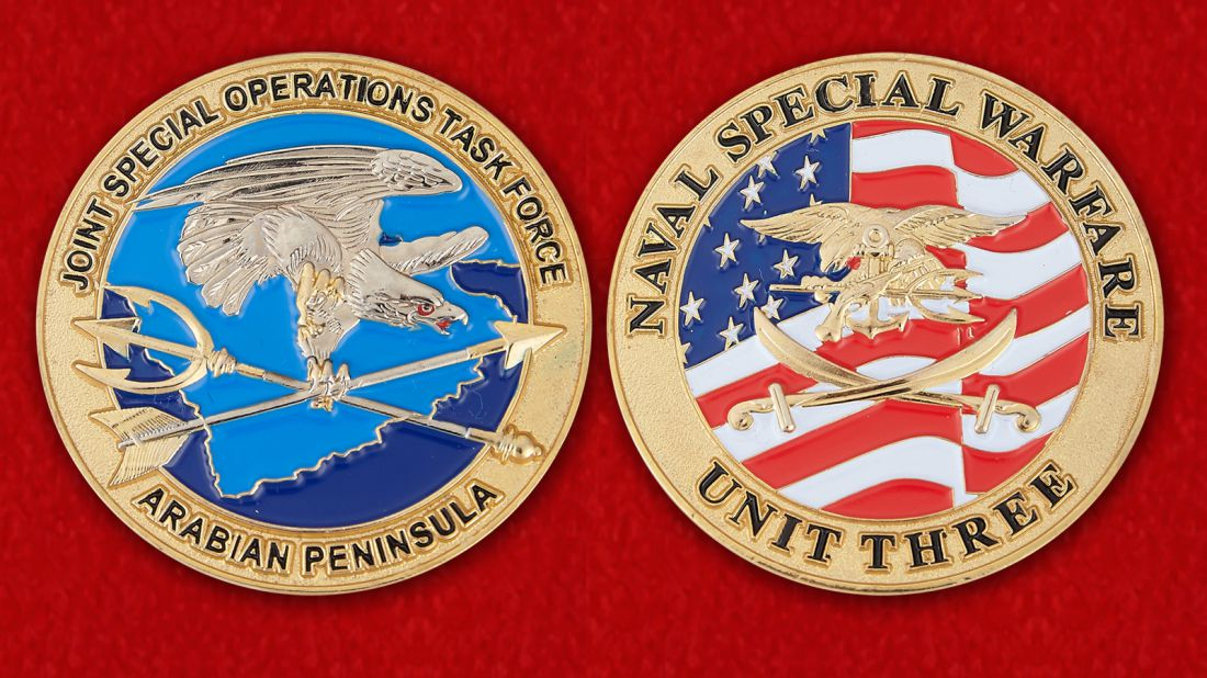Joint Special Operations Task Force Arabian Peninsula Challenge Coin - obverse and reverse