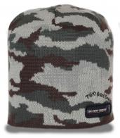 Камуфляжная брендовая мужская шапка практичная удобная на охоту на рыбалку на природу