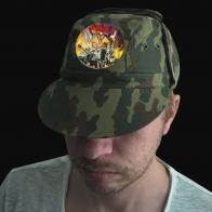 Камуфляжная форменная кепка с вышивкой РВиА