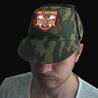 Камуфляжная мужская кепка с шевроном Росгвардии