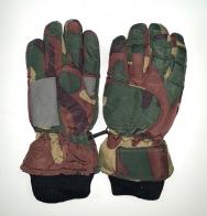 Камуфляжные детские перчатки с манжетами