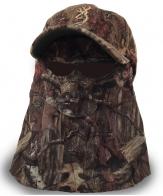 Маскировочная кепка FACE MASK QUIK CAMO Browning®. Отстёгиваемая камуфляжная сетка, анатомические отверстия для ушей и носа, совместима с очками, регулируемый размер