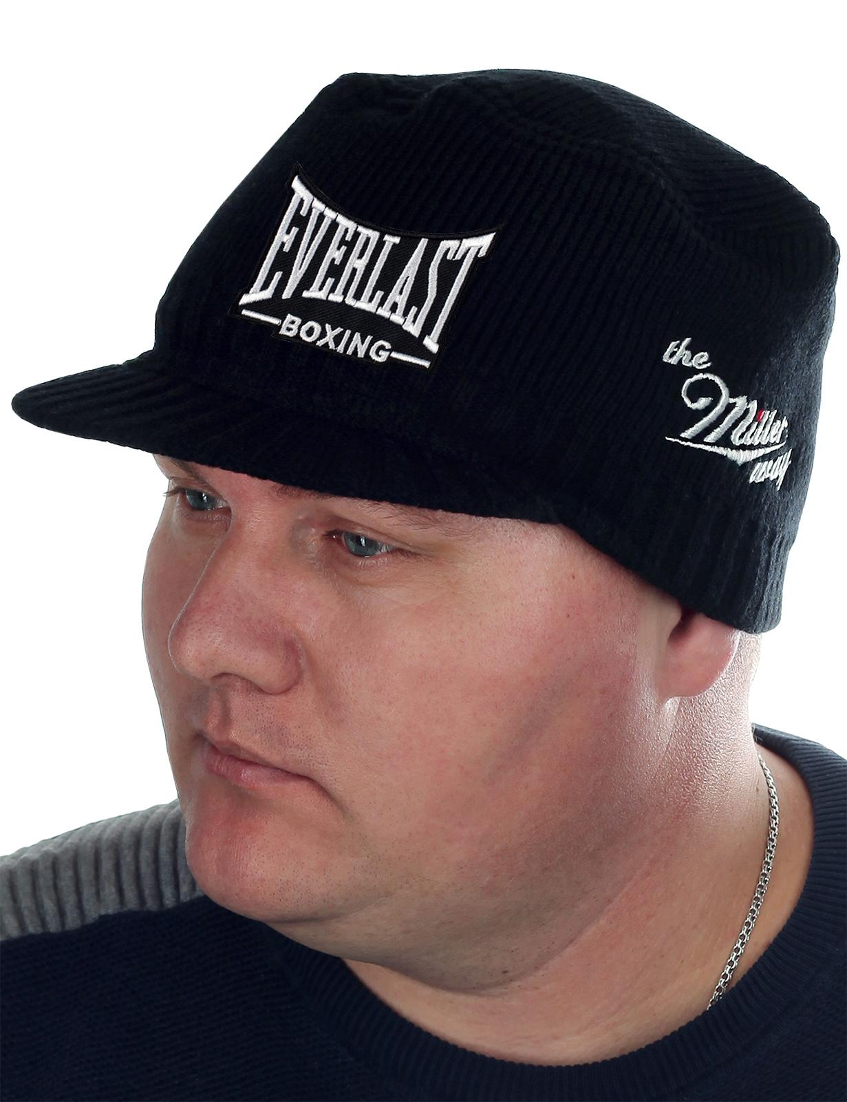 Спортивная шапка-кепка Miller Way с узнаваемой во всем мире эмблемой Everlast boxing. Мода меняется, но классических фасонов это не касается! Кепка отлично садится даже без зеркала!