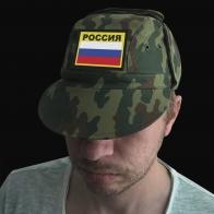 Мужская кепка с патриотическим шевроном Россия