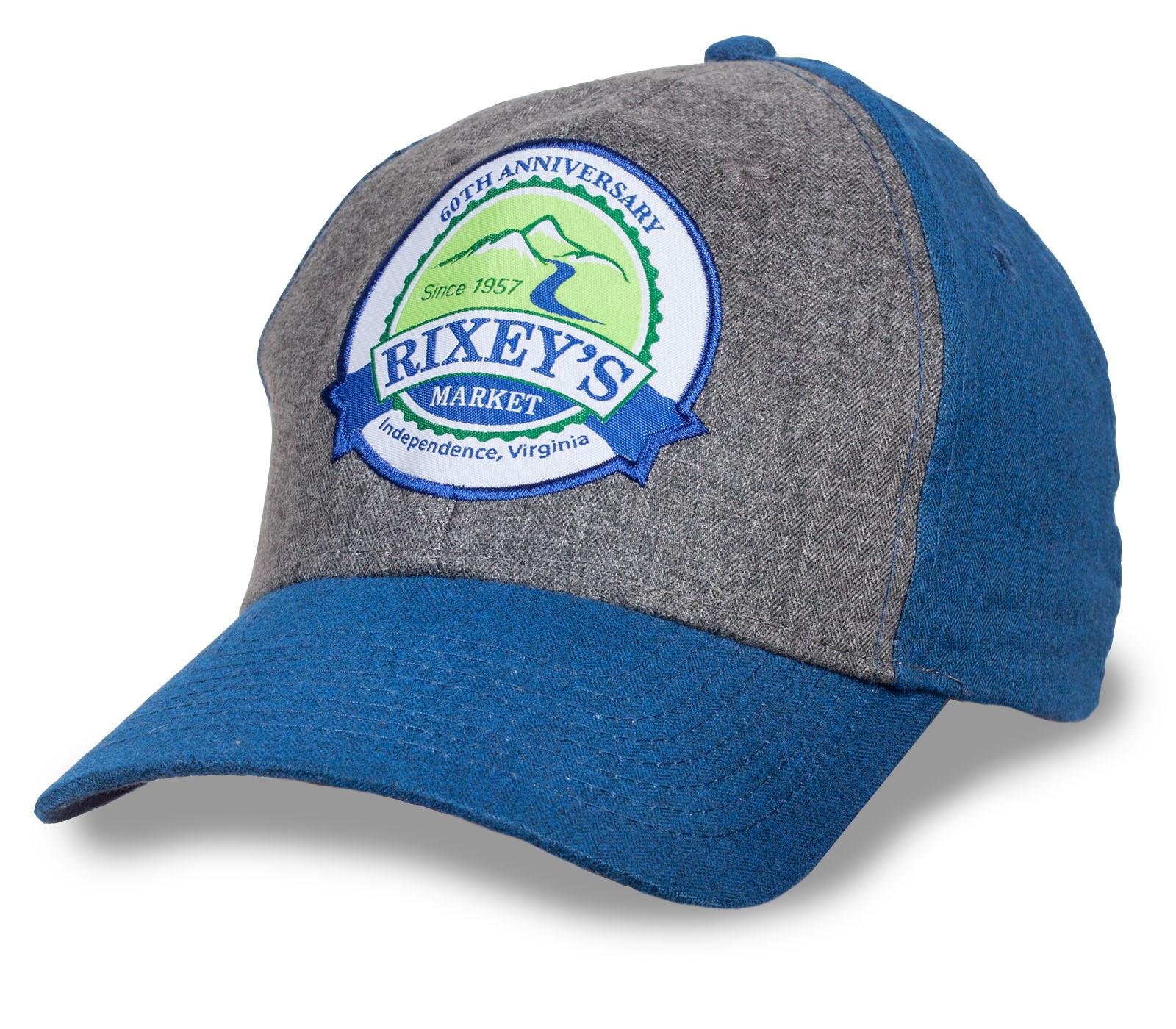 Заказать классную кепку с нашивкой старомодного магазина для всех Rixey's market по демократической цене