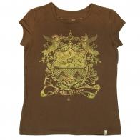 Кофейная футболка Body Glove с золотистым рисунком
