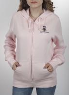 Женская кофта худи с капюшоном. Нежно-розовая брендовая модель из молодежной коллекции Disney Parks. Традиционная длина и «мимишная» вышивка на груди