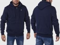 Темно-синяя мужская кофта-толстовка W4 на флисе.