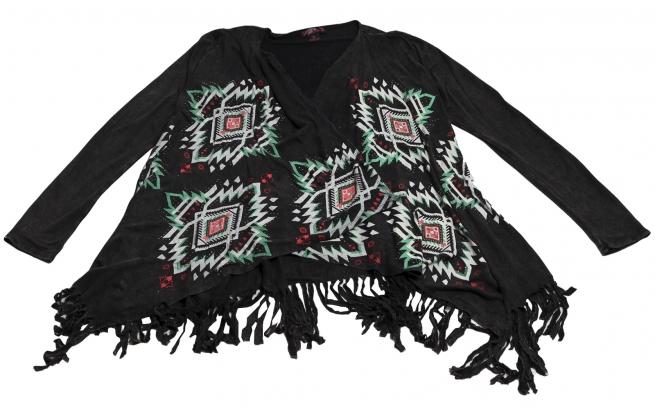 Колоритная кофточка стиля Бохо с бахромой Rock&Roll CowGirl и этно орнаментами