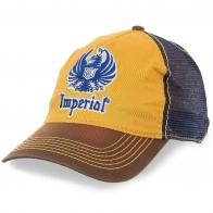 Комбинированная бейсболка Imperial® с сеткой – яркий материал отражает солнце и привлекает взгляды окружающих
