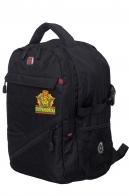 Контрактный черный ранец-рюкзак Погранвойск