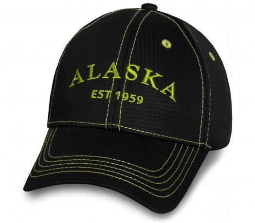 Контрастная черная бейсболка Alaska