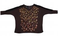Коричневая нарядная кофточка от бренда Rock&Roll CowGirl с ажурной спиной