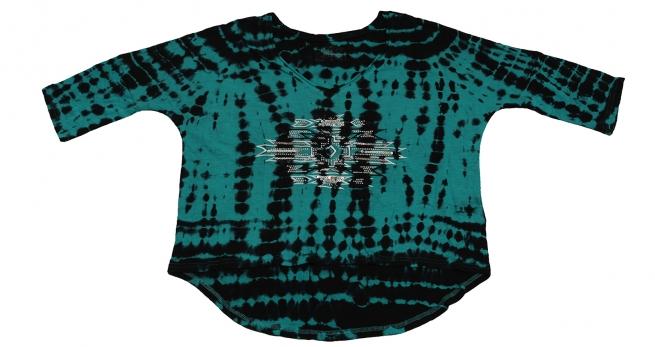 Короткая кофточка от Panhandle - модная модель, удлиненная сзади. Необычный цвет, 100% хлопок