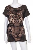 Короткая приталенная туника с тигром