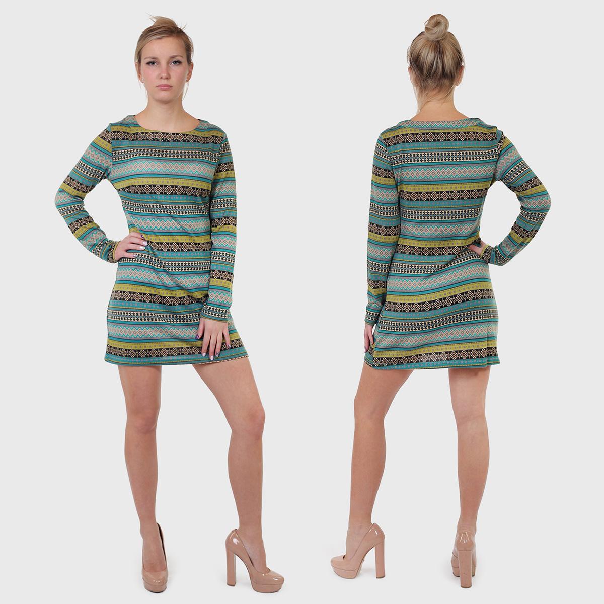 Короткое трикотажное платье NIREN.
