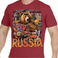 "Краповая футболка ""Русский медведь"""
