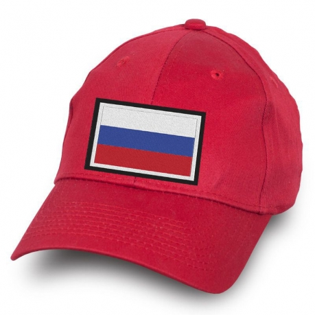 Красная бейсболка Россия - заказать с доставкой