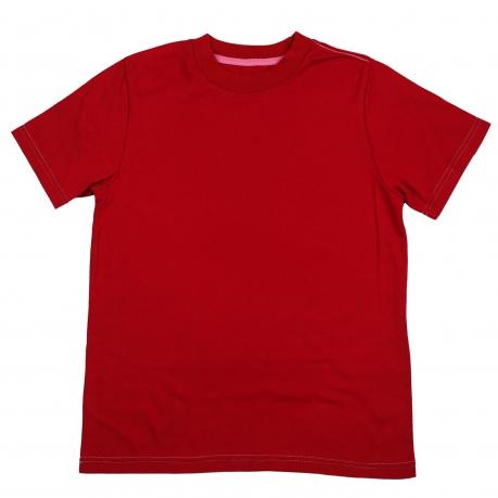 Красная футболка однотонная. Натуральный хлопок