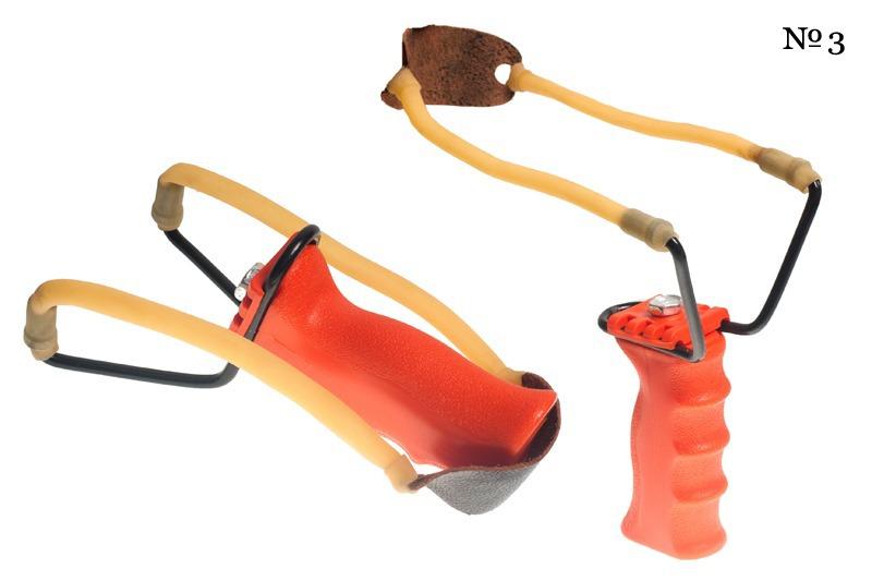 Боевая рогатка с рукоятью красного цвета (№3)