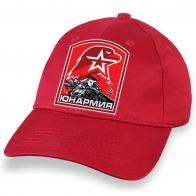 Крутая красная кепка с термонаклейкой Юнармия