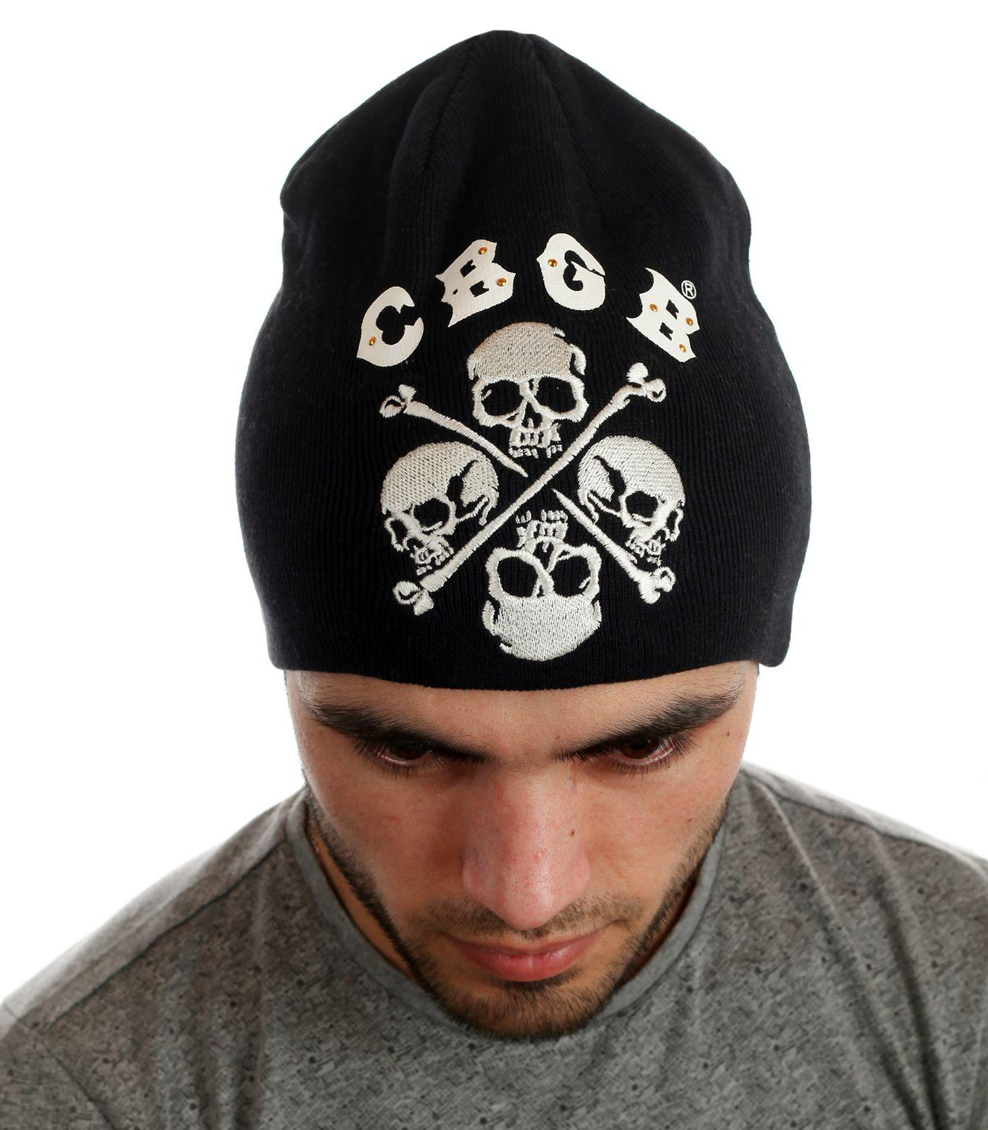 Купить крутую мужскую шапку с черепами онлайн