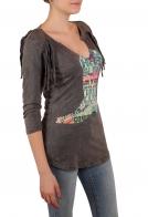 Легкий женский пуловер Panhandle в бунтарском стиле Гранж. Сочетай с чем хочешь, и эпатируй!
