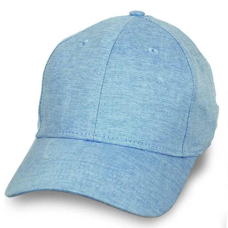 Купить летнюю бейсболку цвета голубой меланж по отличной цене