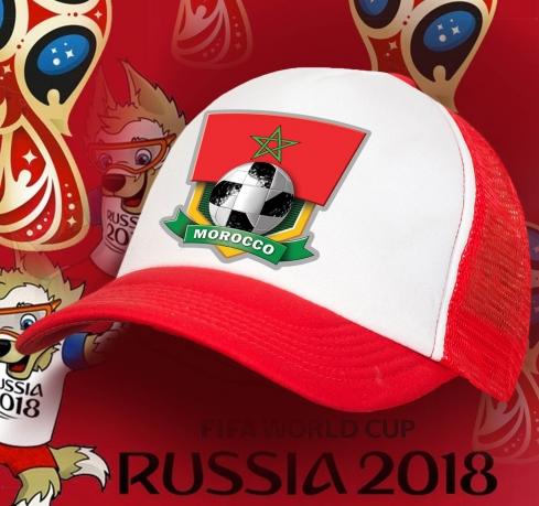 Летняя фанатская бейсболка Марокканской сборной