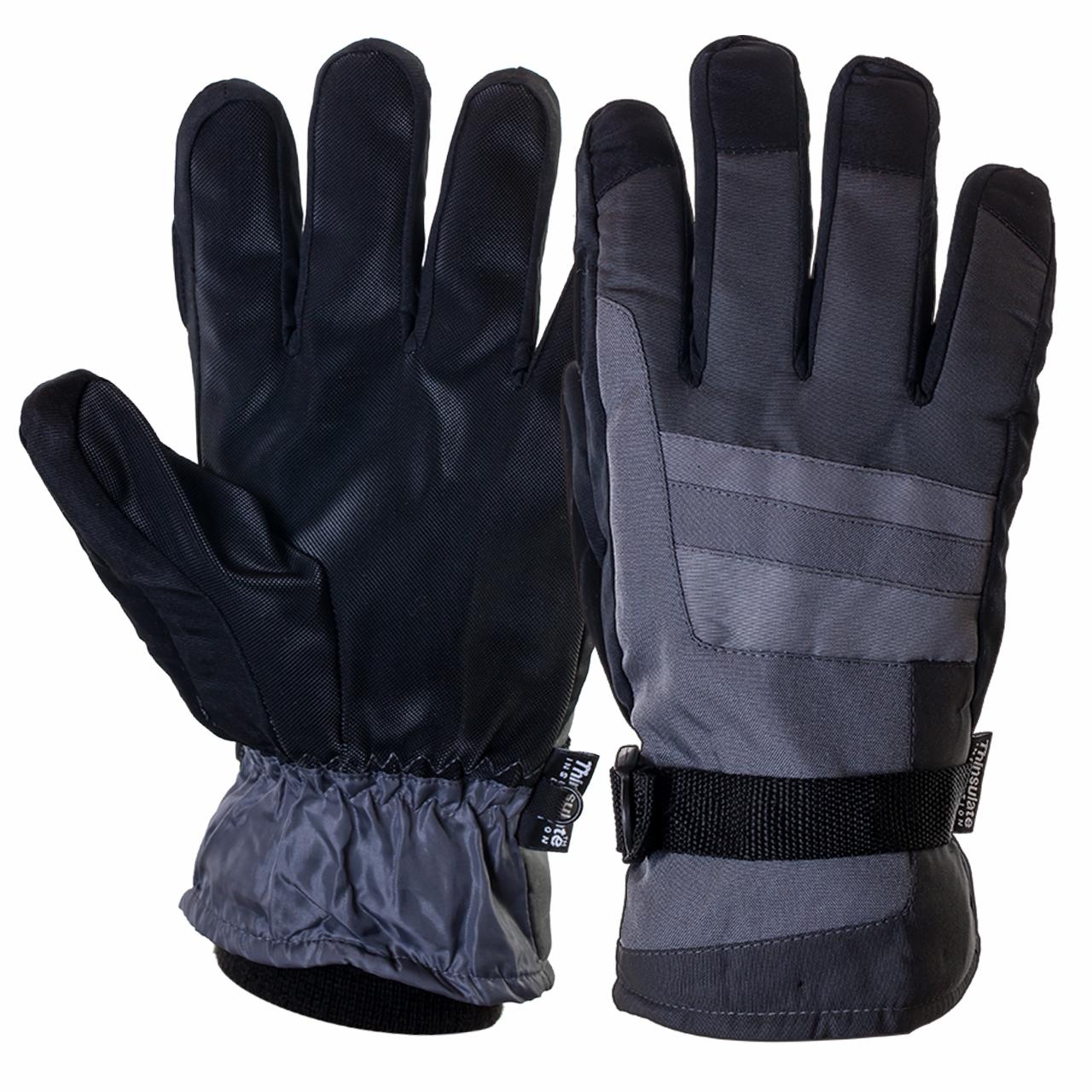 Лыжные мужские перчатки на флисе и тинсулейте