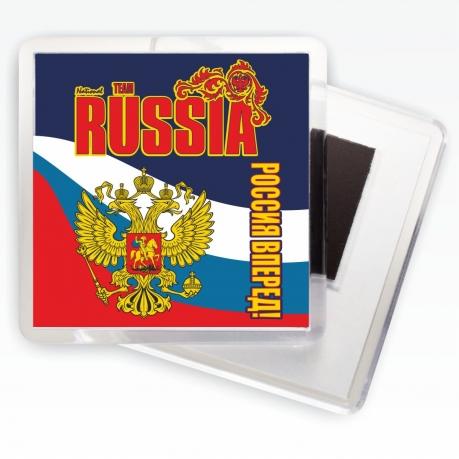 Магнитик RUSSIA «Россия вперёд!»