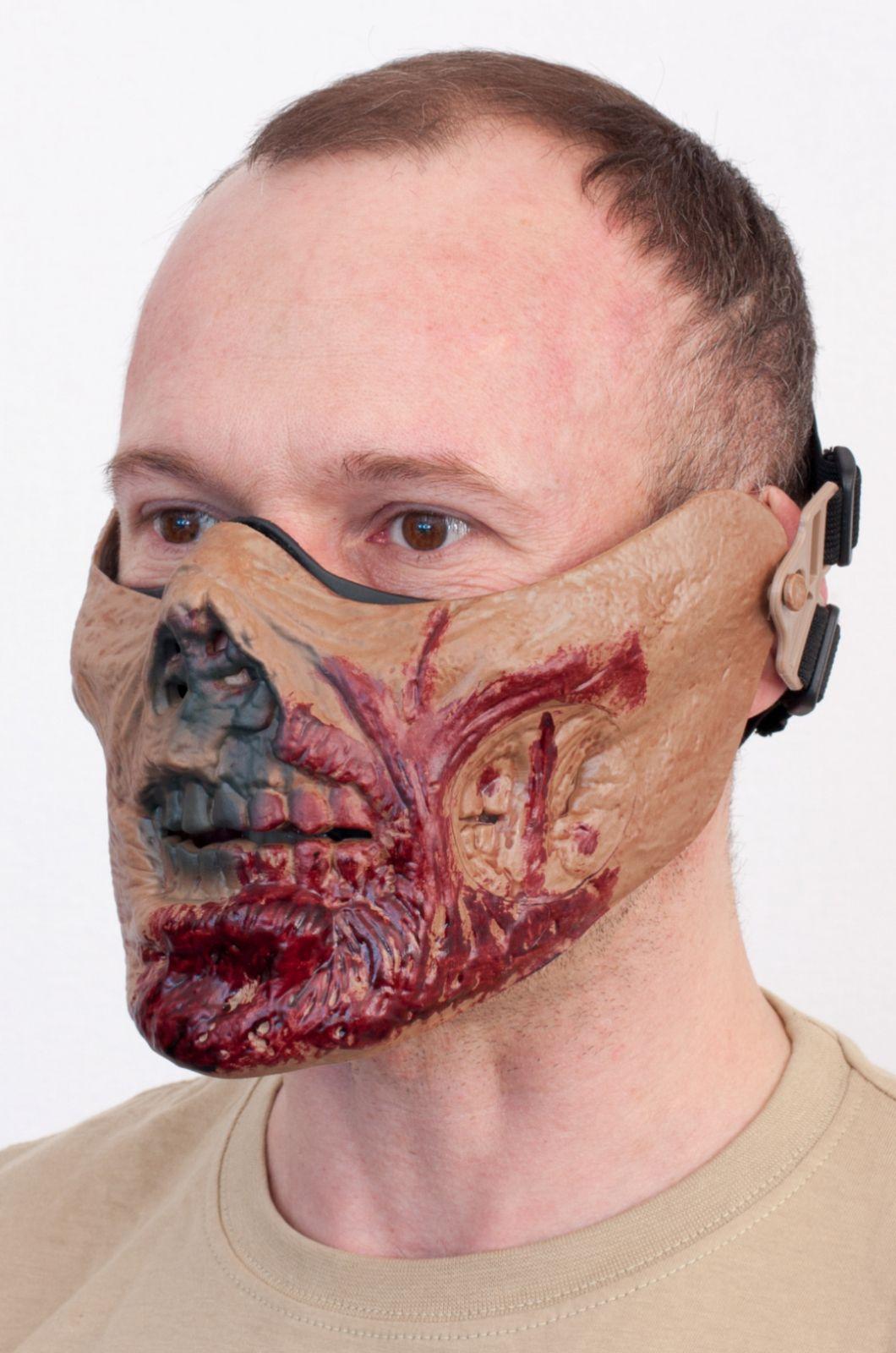 """Маска на пол лица """"Зомби"""" по самой низкой цене"""